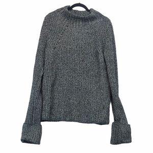 BCBG Mock Neck Wool Sweater